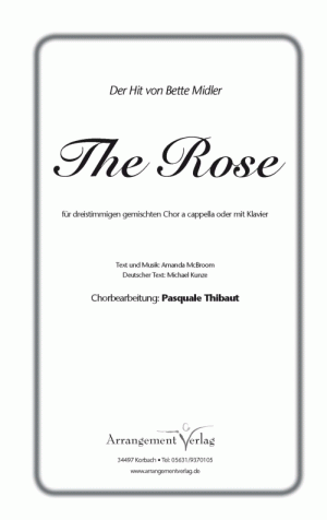 Chornoten: Die Rose (dreistimmig)