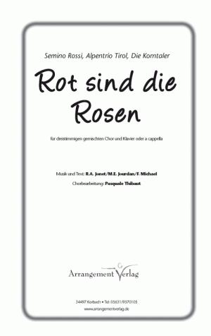 Chornoten: Rot sind die Rosen (dreistimmig)