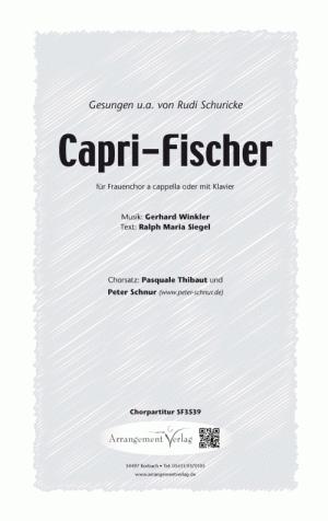 Chornoten: Capri-Fischer (dreistimmig)