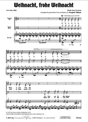 Chornoten: Weihnacht, frohe Weihnacht (dreistimmig)