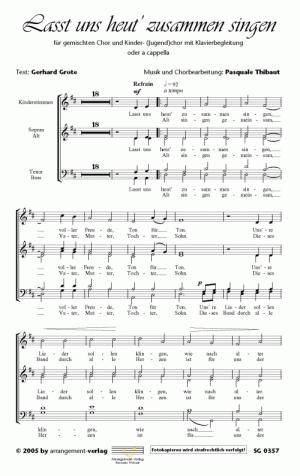Chornoten: Lasst uns heut zusammen singen (vierstimmig)