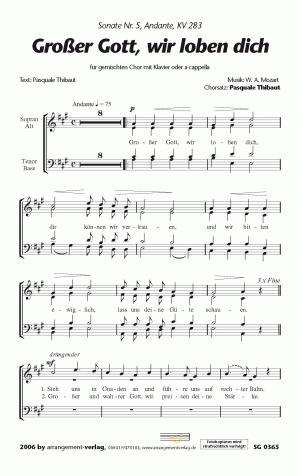 Chornoten: Großer Gott, wir loben dich (vierstimmig)