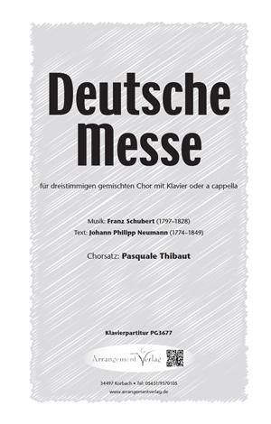 Chornoten: Deutsche Messe (dreistimmig)
