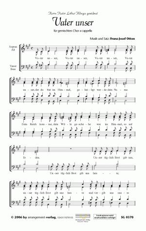 Chornoten: Vater unser für gemischten Chor