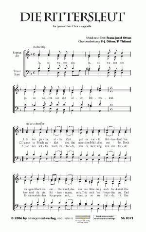 Chornoten: Die Rittersleut (vierstimmig)