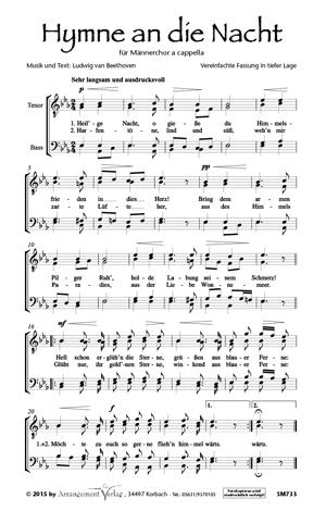 Chornoten: Hymne an die Nacht (dreistimmig)
