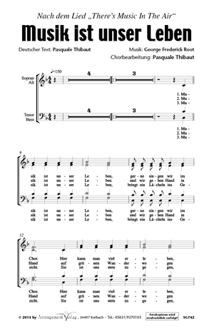 Chornoten: Musik ist unser Leben (dreistimmig)