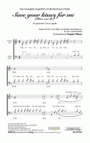 Chornoten: Die Küsse von dir (vierstimmig)