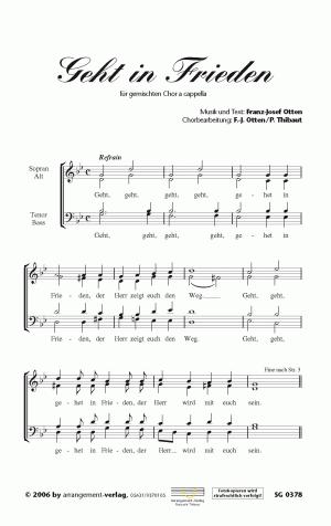 Chornoten: Geht in Frieden (vierstimmig)