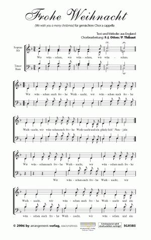 Chornoten: Wir wünschen euch frohe Weihnacht
