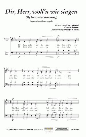 Chornoten: Dir, Herr, woll'n wir singen (vierstimmig)