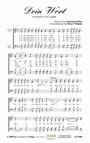 Chornoten: Dein Wort