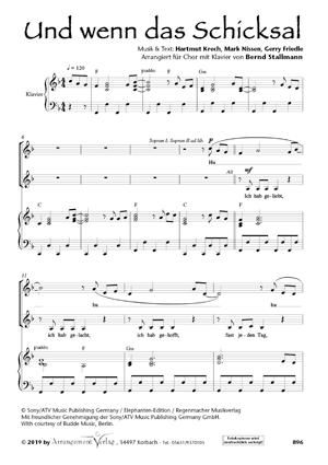 Chornoten: Und wenn das Schicksal (dreistimmig)