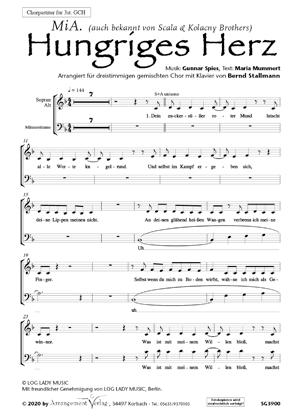 Chornoten: Hungriges Herz (dreistimmig)