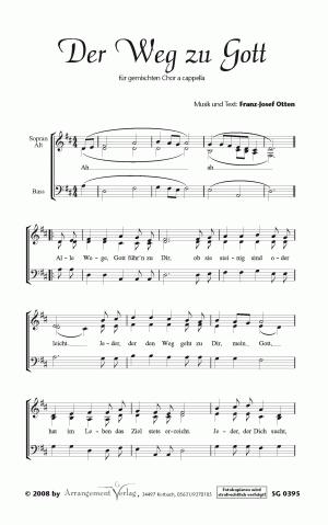 Chornoten: Der Weg zu Gott (dreistimmig)