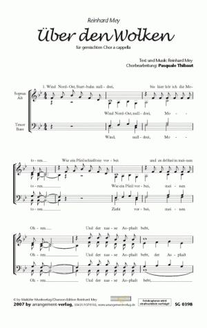 Chornoten: Über den Wolken (vierstimmig)