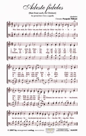 Chornoten: Adeste fideles für gemischten Chor