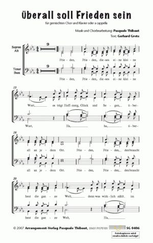 Chornoten: Überall soll Frieden sein (vierstimmig)