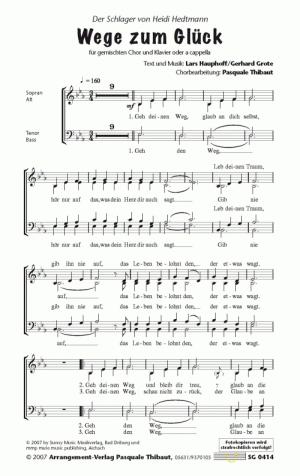 Chornoten: Wege zum Glück (vierstimmig)
