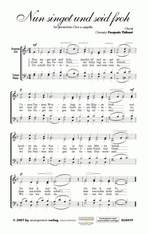 Chornoten: Nun singet und seid froh (vierstimmig)