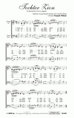Chornoten: Tochter Zion, freue dich für gemischten Chor