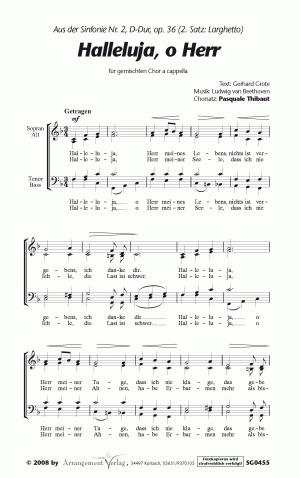 Halleluja, o Herr  für gemischten Chor