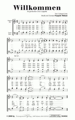 Willkommen für gemischten Chor