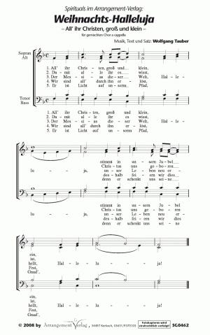 Weihnachts-Halleluja (vierstimmig)