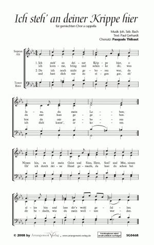Chornoten: Ich steh an deiner Krippe hier (vierstimmig)