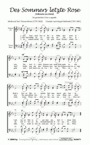 Chornoten: Des Sommers letzte Rose