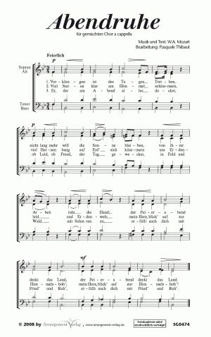 Chornoten: Abendruhe (vierstimmig)
