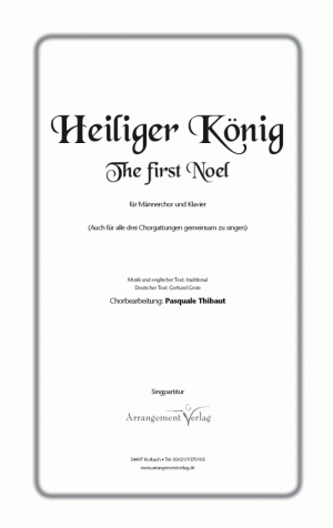Chornoten: The first noel (vierstimmig)