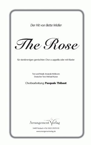 Chornoten: Die Rose (vierstimmig)