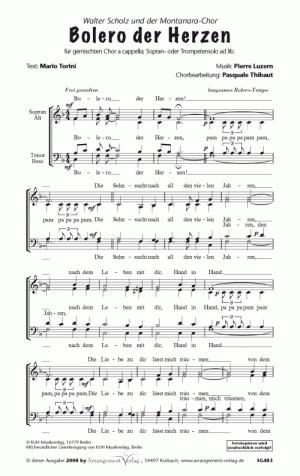 Chornoten: Bolero der Herzen (vierstimmig)