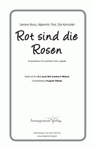 Chornoten: Rot sind die Rosen (vierstimmig)