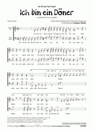 Chornoten: Ich bin ein Döner (vierstimmig)
