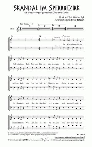 Skandal im Sperrbezirk für gemischten Chor