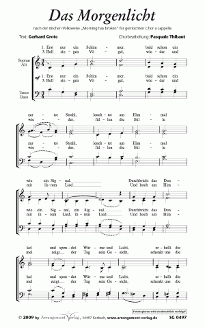 Chornoten: Das Morgenlicht (vierstimmig)