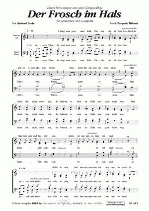 Chornoten: Der Frosch im Hals (vierstimmig)