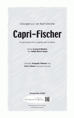 Chornoten: Capri-Fischer (vierstimmig)