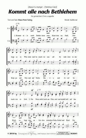 Chornoten: Kommt alle nach Bethlehem (vierstimmig)