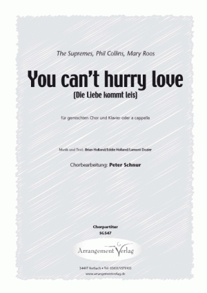 Chornoten: You can't hurry love (vierstimmig)
