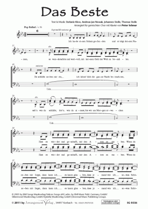 Chornoten: Das Beste (vierstimmig)