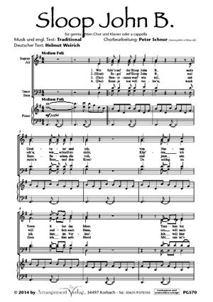 Sloop John B. für gemischten Chor