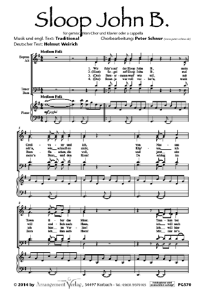 Chornoten: Sloop John B. (vierstimmig)