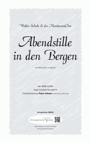 Chornoten: Abendstille in den Bergen (vierstimmig)