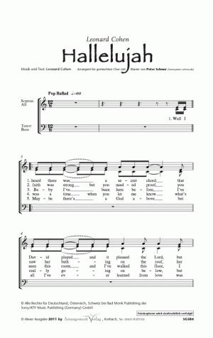 Hallelujah! (Cohen) für gemischten Chor