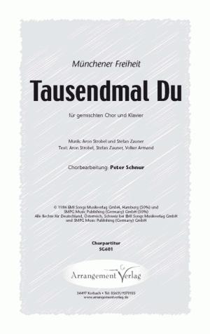 Chornoten: 1000mal Du (vierstimmig)