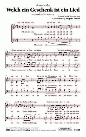 Welch ein Geschenk ist ein Lied (vierstimmig)