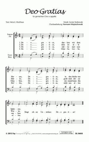 Chornoten: Deo Gratias (vierstimmig)